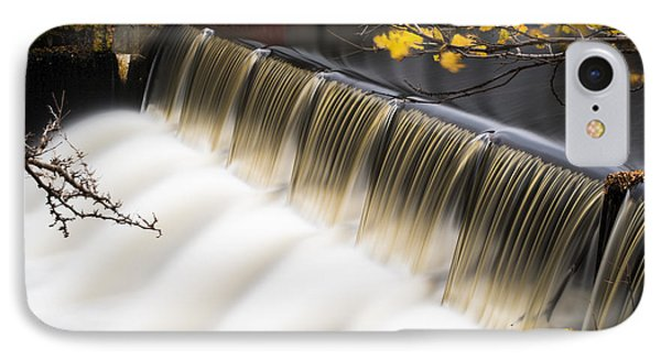 Newton Upper Falls Autumn Waterfall IPhone Case by Toby McGuire