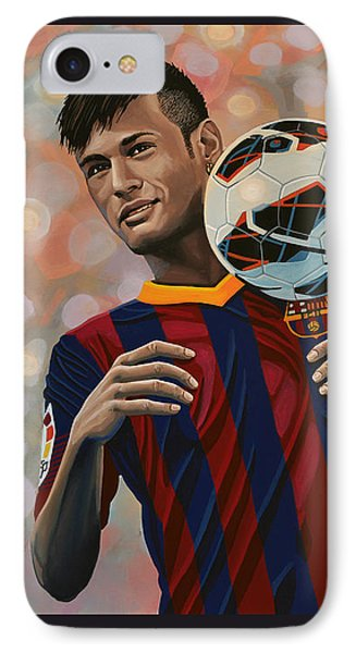 Neymar IPhone Case by Paul Meijering