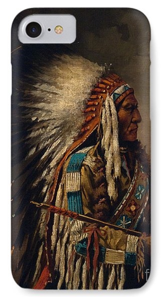 Nez Perce Chief IPhone Case by Edgar S Paxson