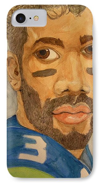 IPhone Case featuring the painting New School Football Seattle by Rand Swift