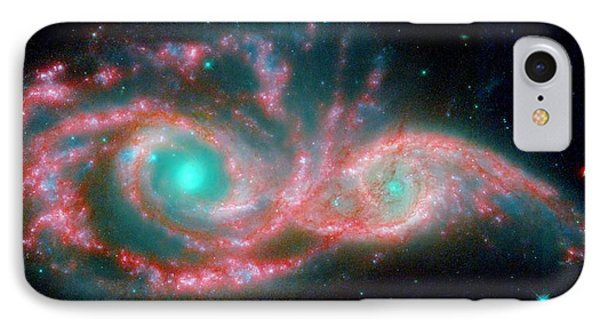 Ngc 2207 And Ic 2163 In The Canis Major Constellation IPhone Case by American School