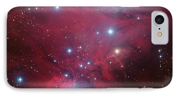 IPhone Case featuring the photograph Ngc 2264 And The Christmas Tree Star Cluster by Eso