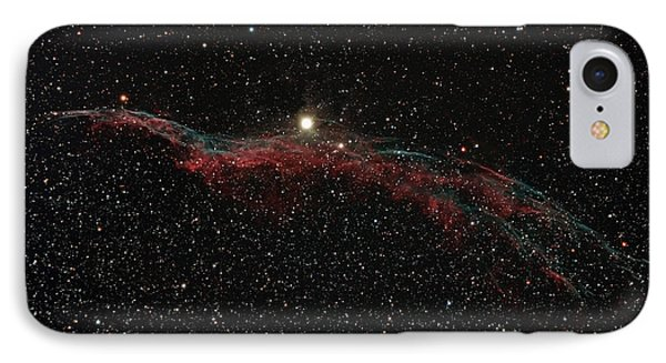Ngc 6960, The Western Veil Nebula Phone Case by Rolf Geissinger