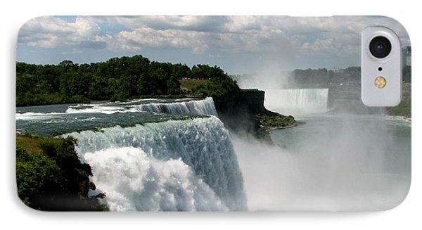 Niagara Falls American And Canadian Horseshoe Falls Phone Case by Rose Santuci-Sofranko
