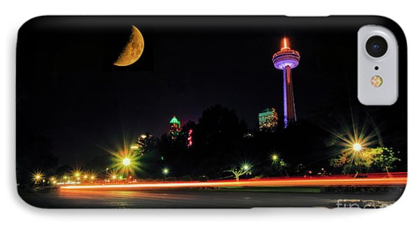 Niagara Falls Crescent Moon IPhone Case by Charline Xia