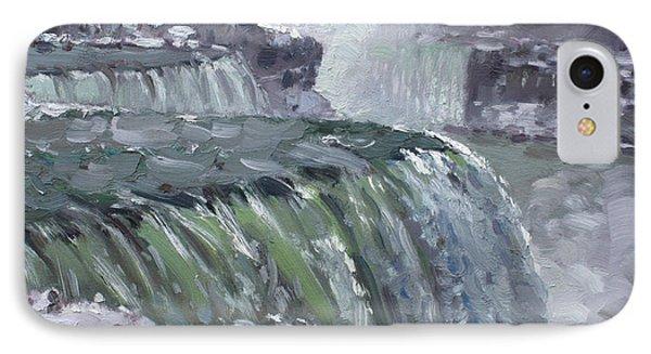 Niagara Falls In Winter  IPhone Case by Ylli Haruni