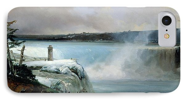 Niagara Falls IPhone Case by Jean Charles Joseph Remond