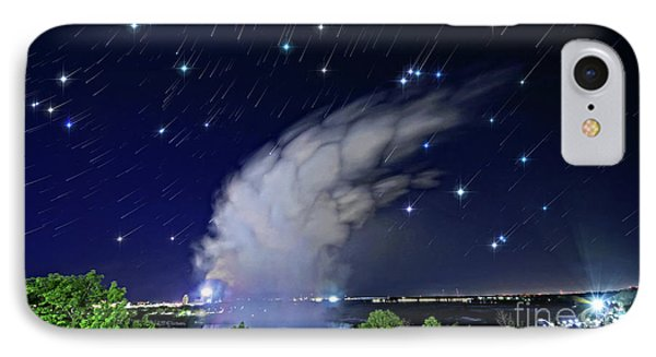 Niagara Falls Rising Mist Under Starry Sky IPhone Case by Charline Xia