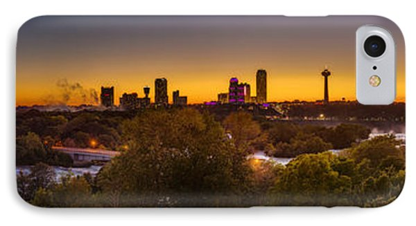 IPhone Case featuring the photograph Niagara Falls Twilight From The 9th Floor by Chris Bordeleau