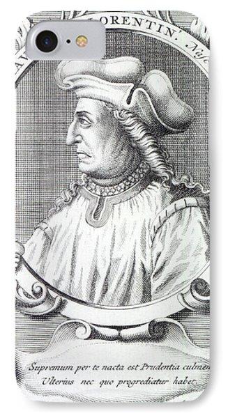 Niccolo Machiavelli IPhone Case by Francois Morellon la Cave
