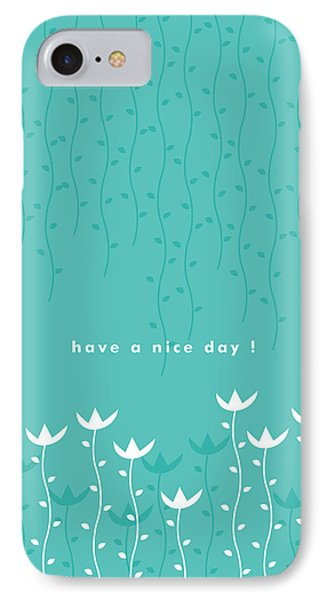 Flowers iPhone 7 Case - Nice Day by Kathleen Wong