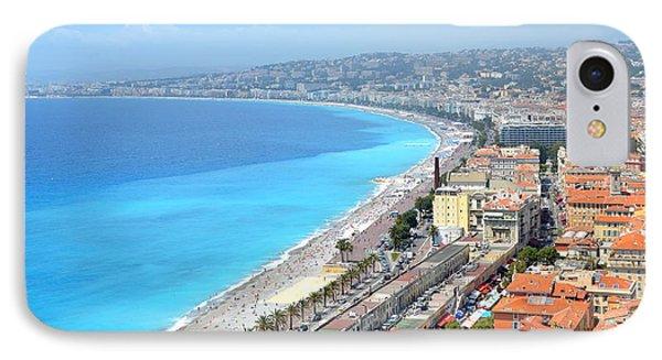 Nice France Coastline IPhone Case by Corinne Rhode