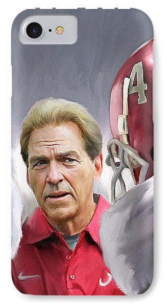 Nick Saban IPhone Case by Mark Spears