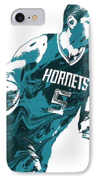 Nicolas Batum Charlotte Hornets Pixel Art 3 IPhone Case