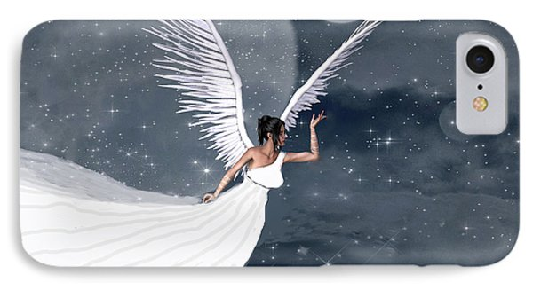 Night Angel IPhone Case by Rosalie Scanlon
