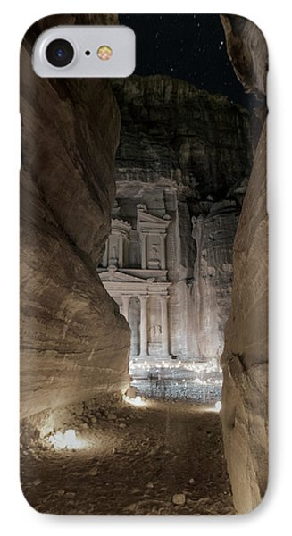 Night At Petra IPhone Case by Stephen Stookey