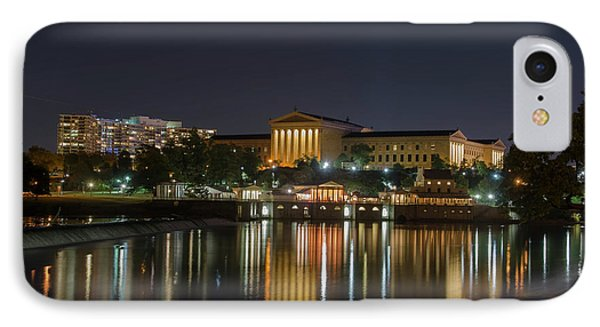 Night At The Philadelphia Waterworks And Art Museum IPhone Case