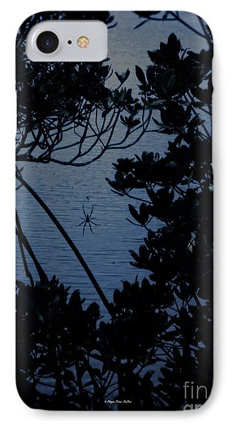 IPhone Case featuring the photograph Night Banana Spider by Megan Dirsa-DuBois