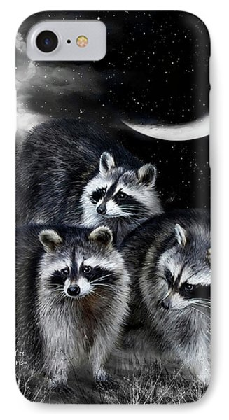 Night Bandits IPhone 7 Case by Carol Cavalaris