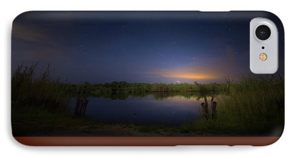 Night Brush Fire In The Everglades IPhone Case by Mark Andrew Thomas