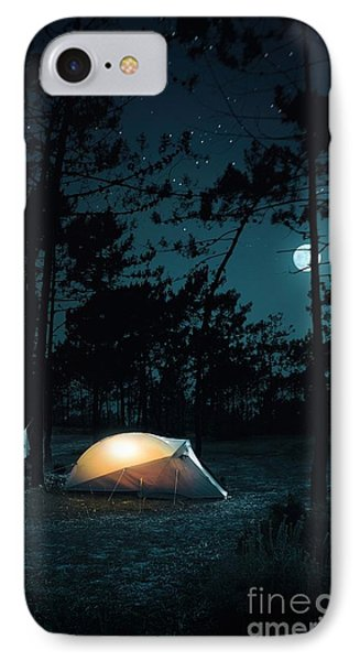 Night Camping IPhone Case by Carlos Caetano