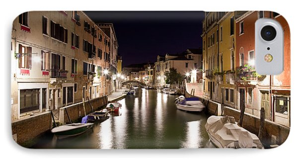 Night Canal IPhone Case by Marco Missiaja