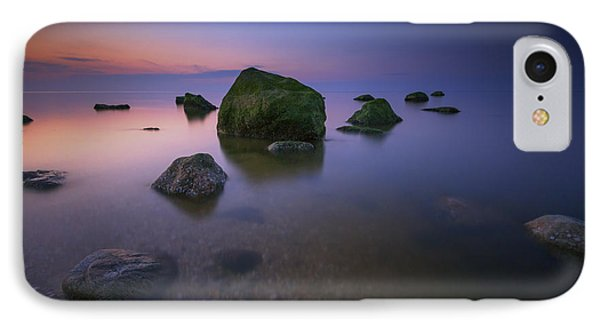 Night Falls On Long Island Sound IPhone Case by Rick Berk
