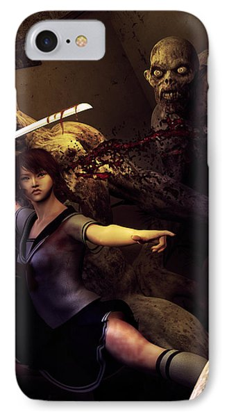 Night Fight IPhone Case by Cheri Stollings