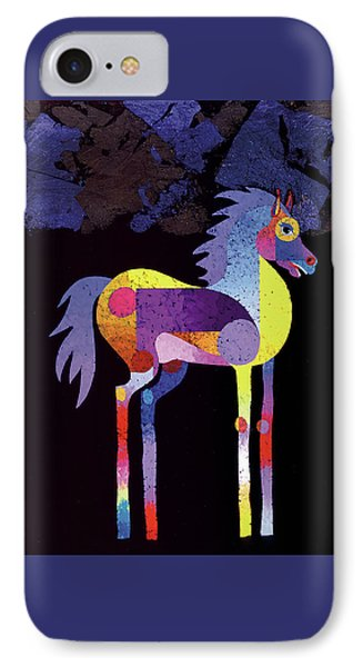 IPhone Case featuring the painting Night Foal by Bob Coonts
