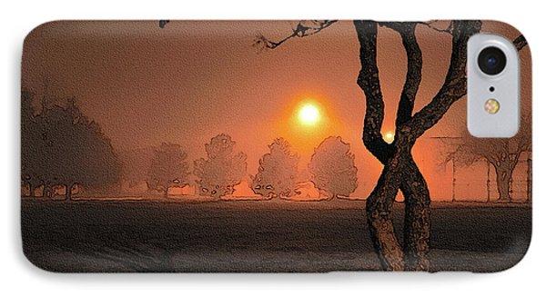 Night Fog Phone Case by Betty LaRue