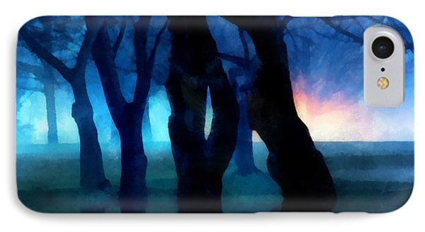 Night Fog In A City Park Phone Case by Francesa Miller