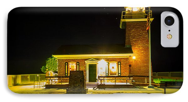 Night Lighthouse IPhone Case by Steve Spiliotopoulos