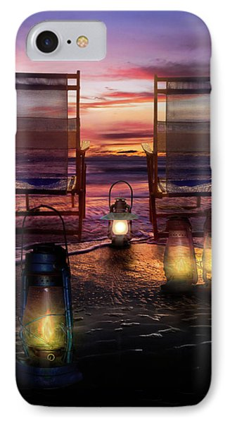 IPhone Case featuring the photograph Night Lights At Sunset by Debra and Dave Vanderlaan