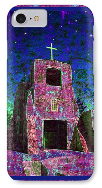 Night Magic San Miguel Mission Phone Case by Kurt Van Wagner