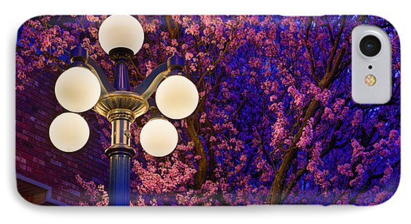 Night Of The Cherry Blossoms IPhone Case by Keith Boone