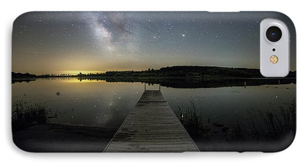 IPhone Case featuring the photograph Night On The Dock by Aaron J Groen