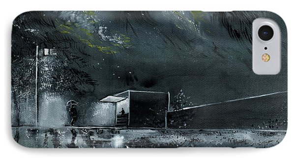 IPhone Case featuring the painting Night Out by Anil Nene