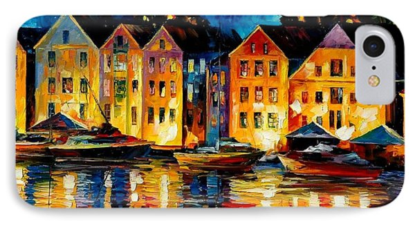 Night Resting Original Oil Painting  Phone Case by Leonid Afremov
