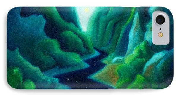 Night River IPhone Case by Angela Treat Lyon