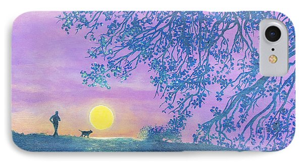 IPhone Case featuring the painting Night Runner by Susan DeLain