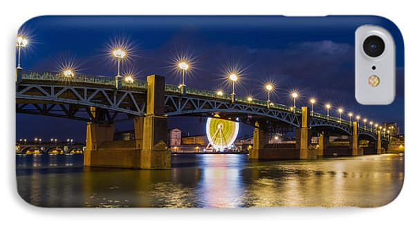 IPhone Case featuring the photograph Night Shot Of The Pont Saint-pierre by Semmick Photo