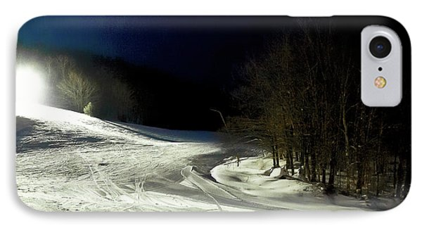 IPhone 7 Case featuring the photograph Night Skiing At Mccauley Mountain by David Patterson