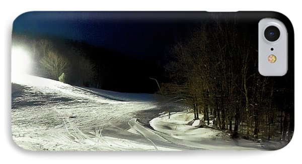 IPhone Case featuring the photograph Night Skiing At Mccauley Mountain by David Patterson