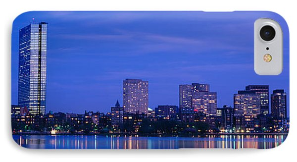 Night, Skyline, Back Bay, Boston IPhone Case by Panoramic Images