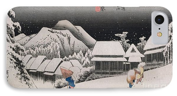 Night Snow IPhone Case by Hiroshige