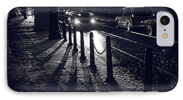 IPhone Case featuring the photograph Night Street Of Prague by Jenny Rainbow