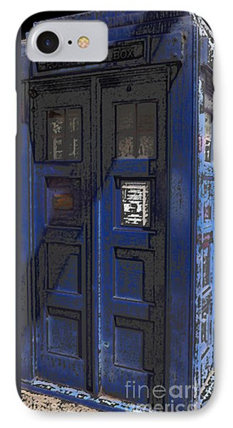 Night Tardis Phone Case by Rhonda Chase