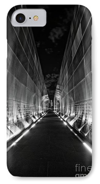 Night Time At Empty Sky Memorial IPhone Case by Nicki McManus