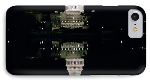 Night View Of The Capitol IPhone Case by American School