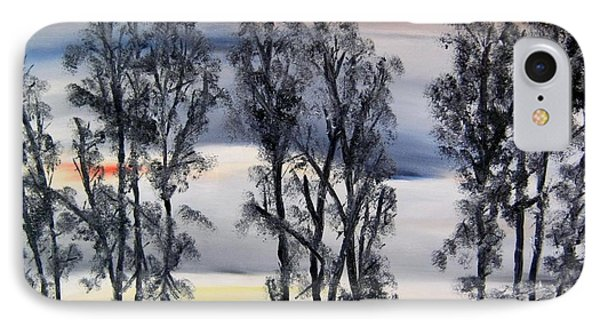 IPhone Case featuring the painting Nightfall Approaching by Marilyn  McNish